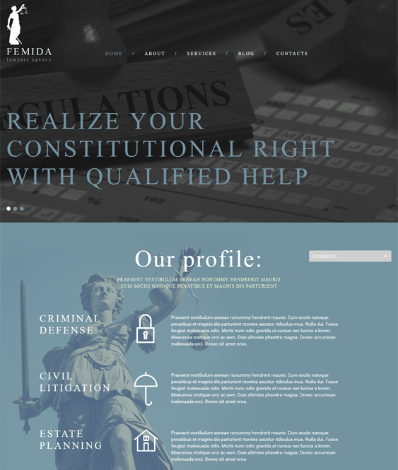 femida lawyer attorney joomla templates