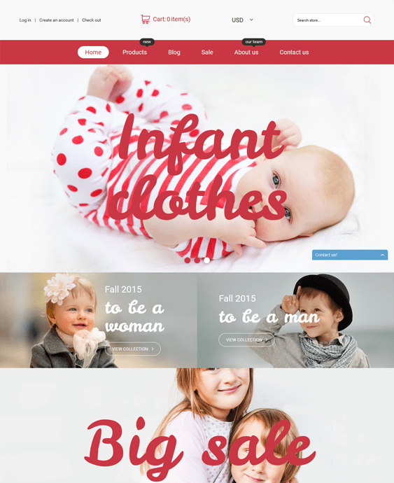infant clothing kids shopify themes