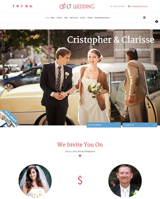 lt wedding joomla templates