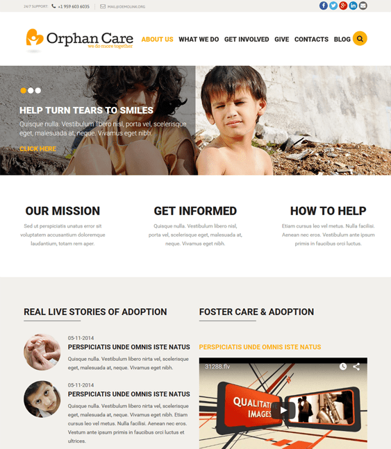 11 of the Best Charity & Nonprofit Joomla Templates – <br />down