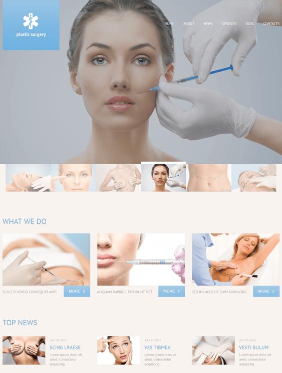 plastic medical wordpress theme