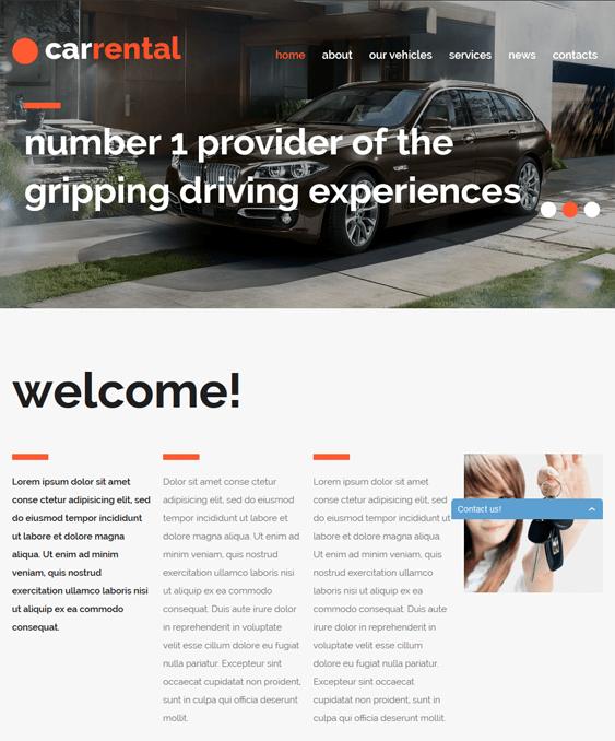 rental cars car vehicle automotive joomla templates