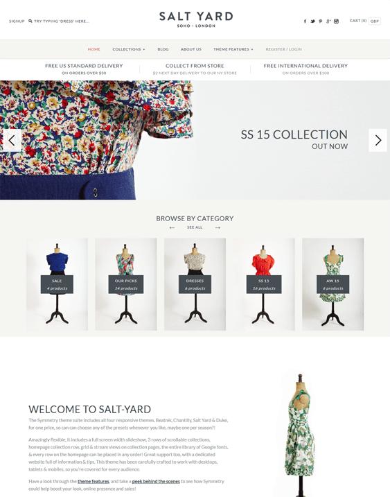 salt yard shopify themes clothing stores