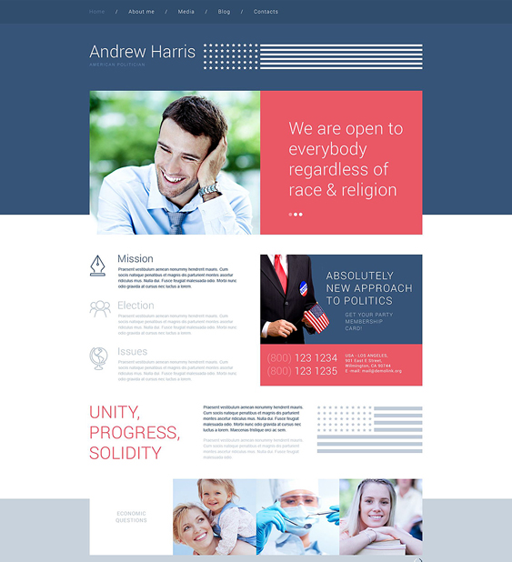 american political wordpress theme