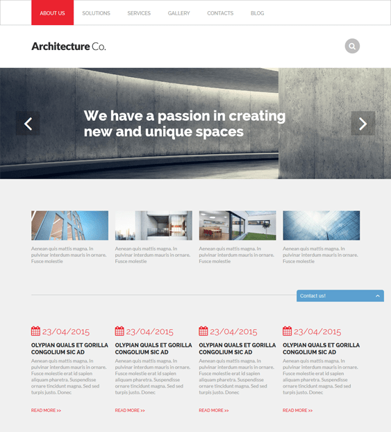 architectural architect drupal themes
