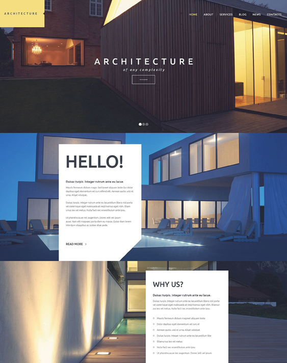 architecture business architect wordpress themes