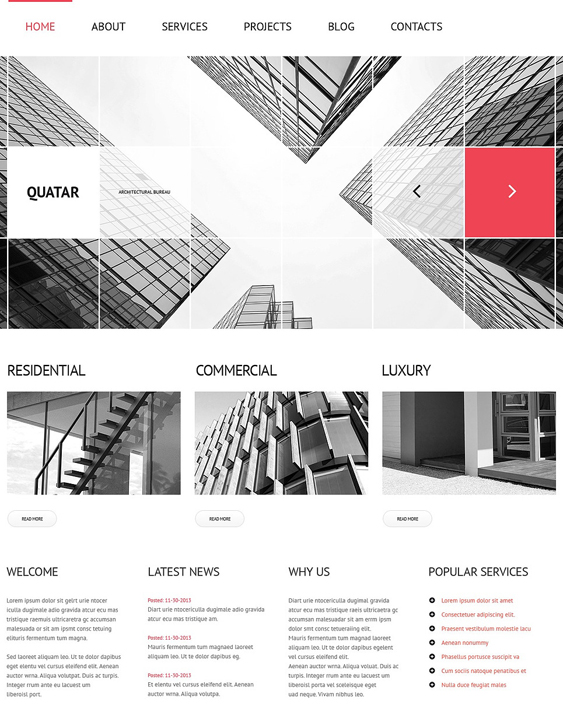 architecture services architect wordpress themes