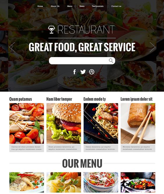 attractive restaurant bakeries bars joomla templates