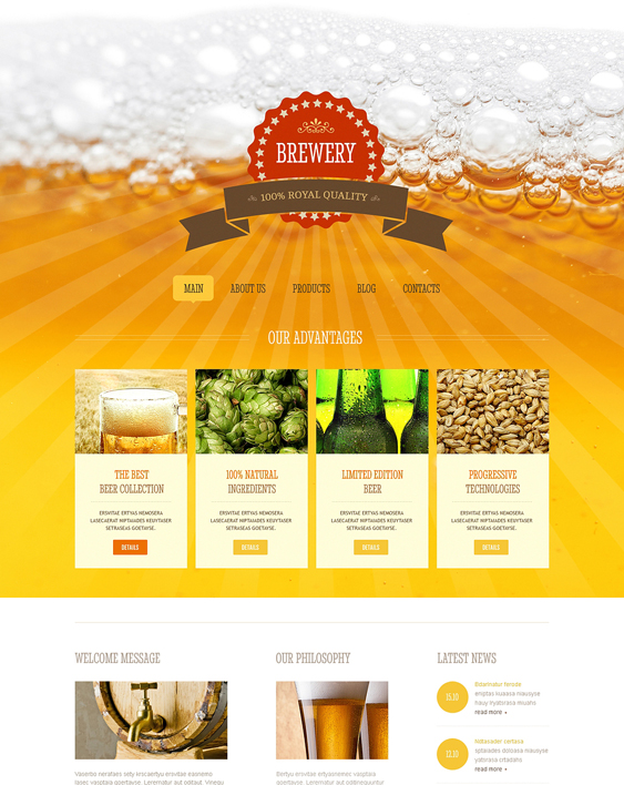 brewery joomla templates