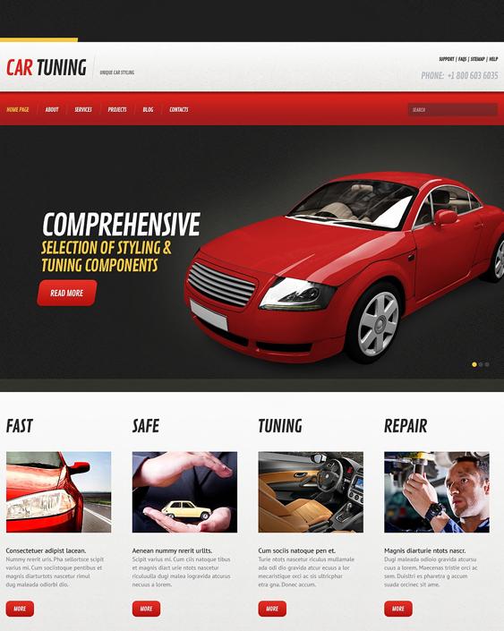 car tuning car mechanic repair shop wordpress themes