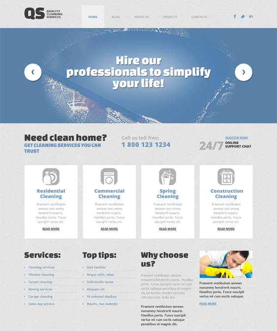 responsive cleaning wordpress themes