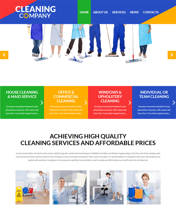 cleaning wordpress themes services