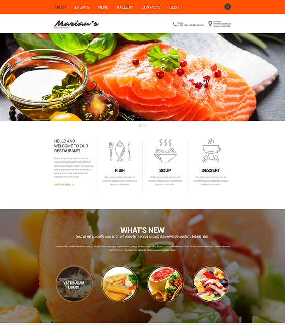 cozy restaurant bakeries bars joomla templates