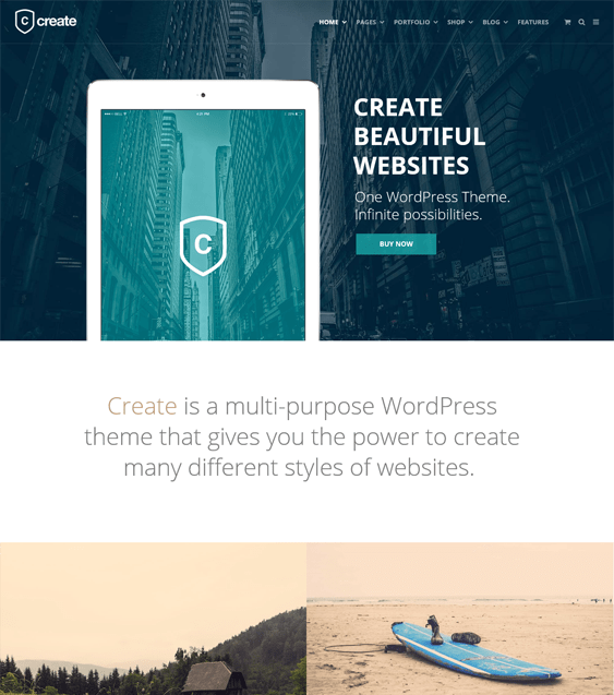 create portfolio wordpress themes