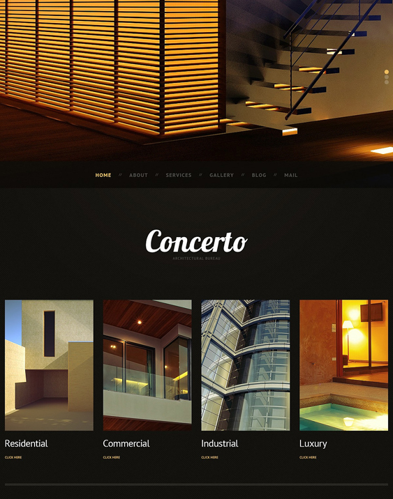 dark architect wordpress themes