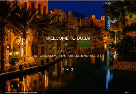 dubai architect wordpress themes