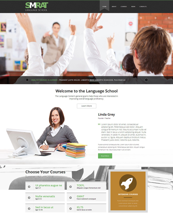 foreign education joomla templates