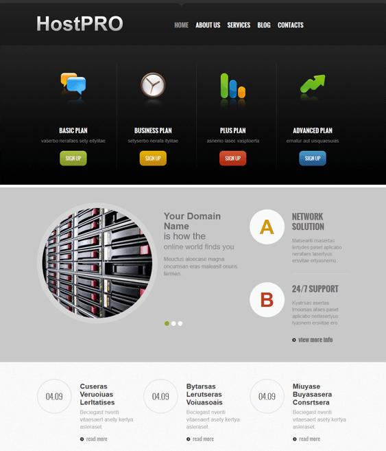 hosting responsive web hosting joomla templates
