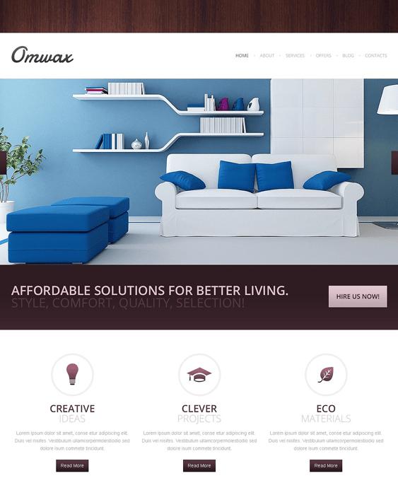 interior design drupal themes responsive