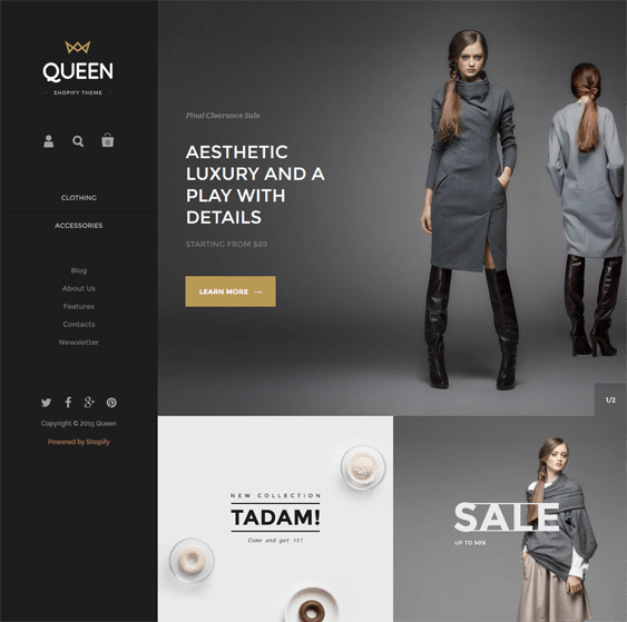 kingdom queen shopify themes clothing stores