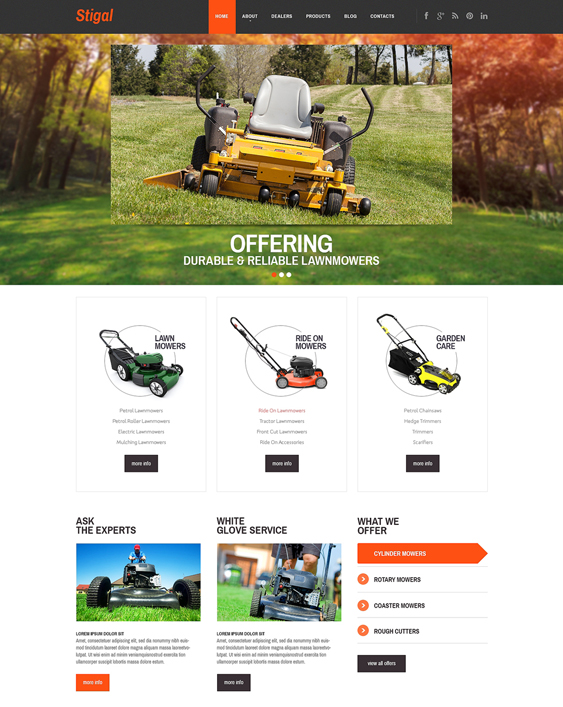 landscape gardener landscaping wordpress themes