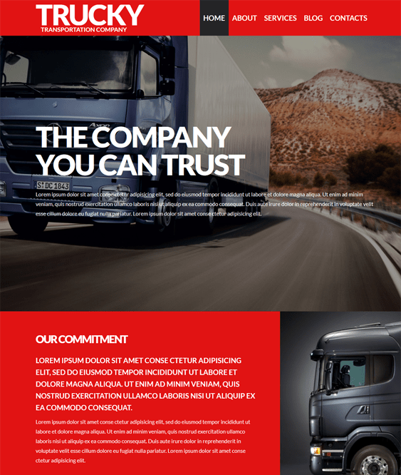 logistics dark wordpress themes