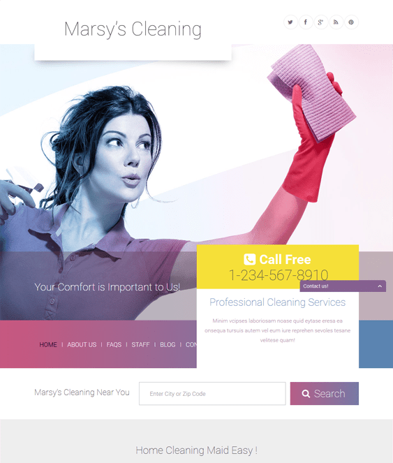 marsy cleaning wordpress themes