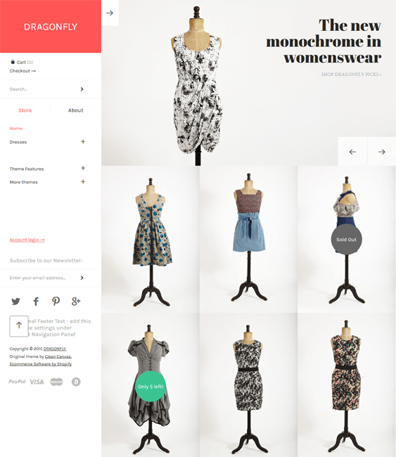 masonry dragonfly shopify themes clothing stores
