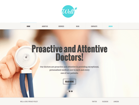 medical joomla templates responsive