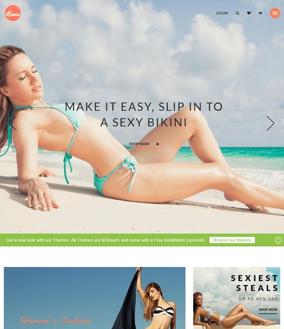 miami swimwear lingerie shopify themes