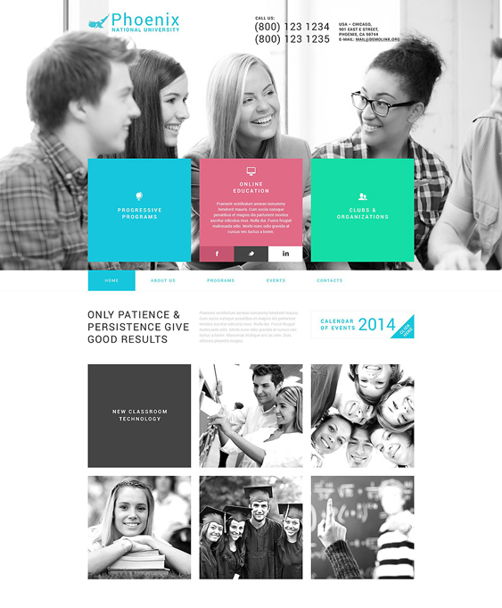phoenix university college wordpress themes