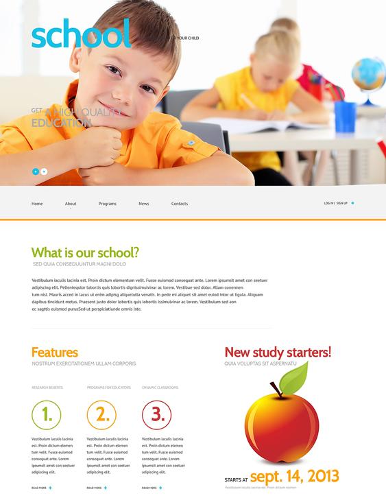 primary school education wordpress themes