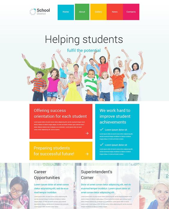 school district education joomla templates