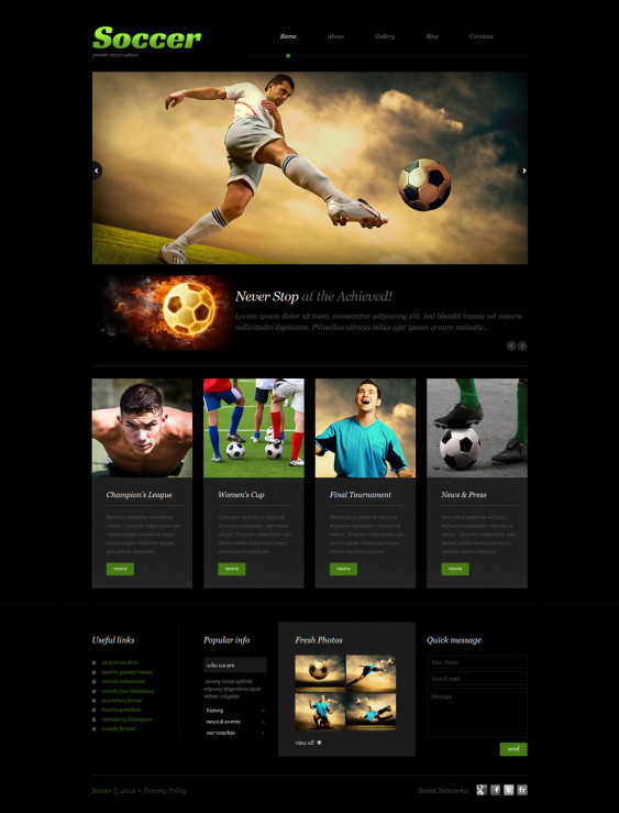 soccer dark wordpress themes