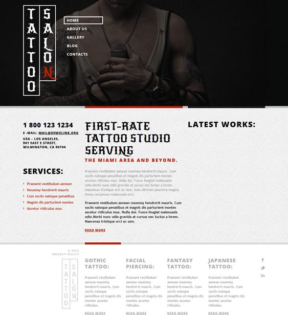 tattoo salon wordpress themes