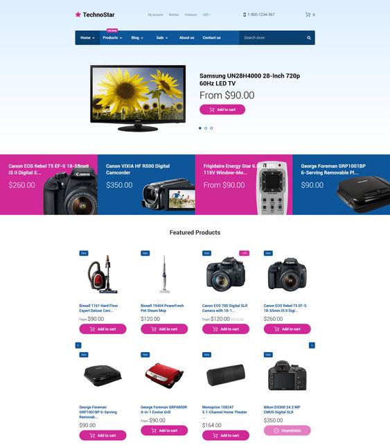 technostar electronics shopify themes