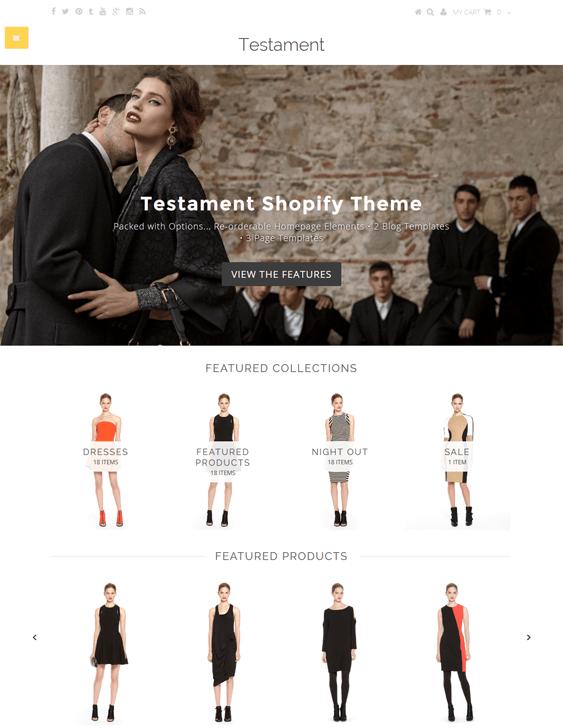 testament exodus shopify themes clothing stores