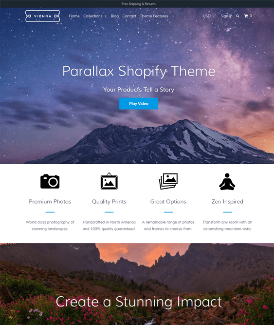 vienna shopify themes art stores