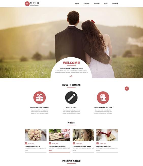 wedding wordpress themes planning
