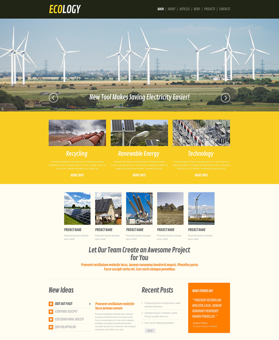 wind organic eco-friendly wordpress themes