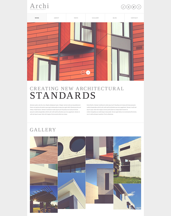 architectural company minimal joomla templates