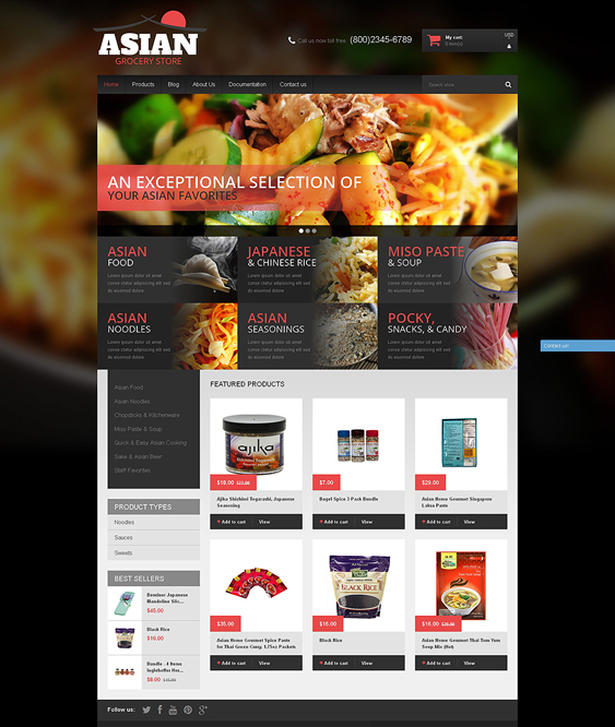 asian food drink shopify themes