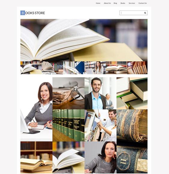 books writers wordpress themes store