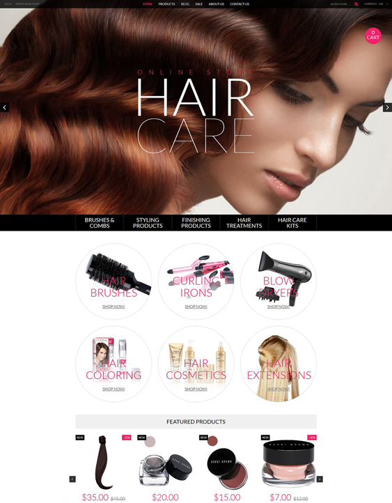 cosmetics beauty products shopify themes