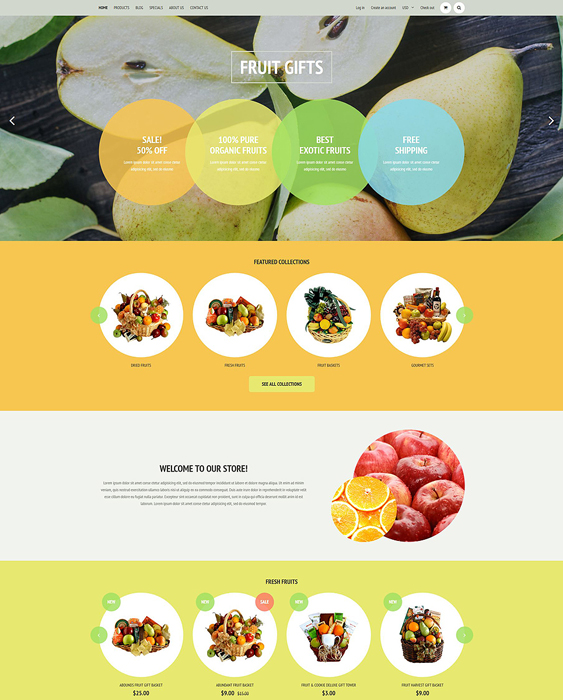 fruit food drink shopify themes