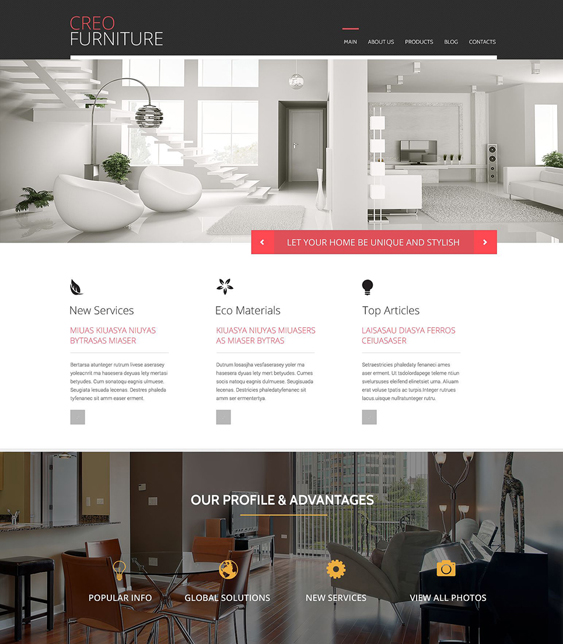 wordpress furniture themes