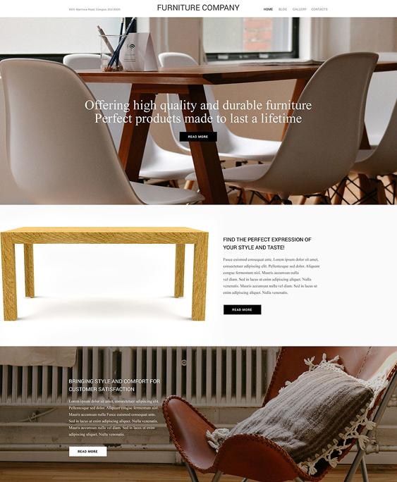 wordpress furniture themes company