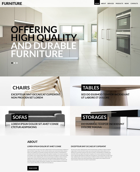 wordpress furniture themes for