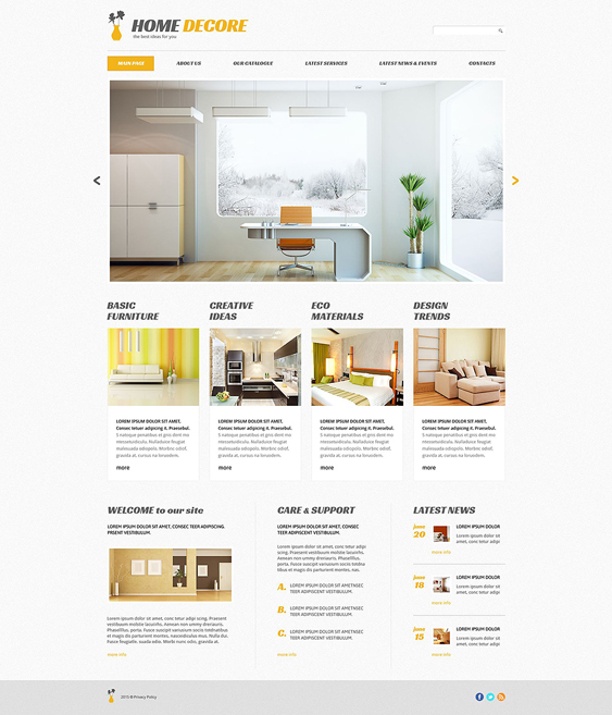 home decor wordpress furniture themes