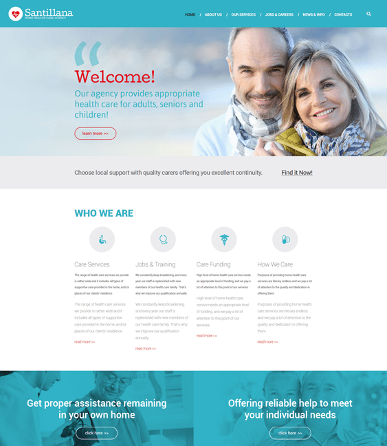 home healthcare medical drupal themes